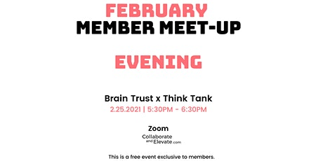 February Evening Member Meetup tickets