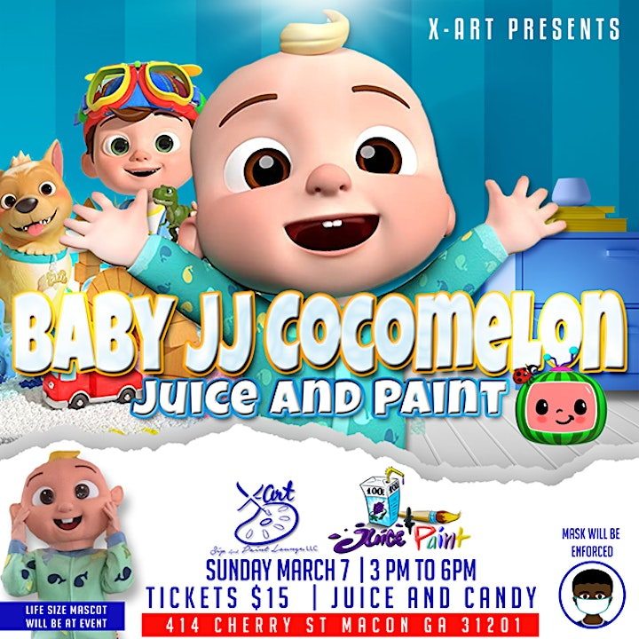 Baby JJ Cocomelon theme Juice and Paint image
