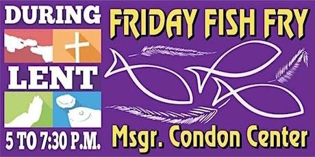 Week 2 Fish Fry 02/26/2021- Drive Thru tickets