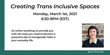 Creating Trans Inclusive Spaces, Workshop tickets