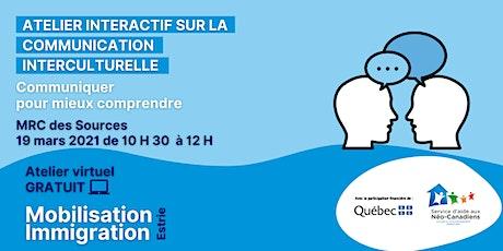Communication interculturelle - MRC des Sources tickets