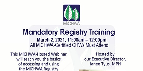 MiCHWA Hosted Webinar - MiCHWA's Member Registry tickets