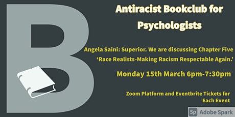 March Antiracist Bookclub for Psychologists Zoom Meeting. tickets