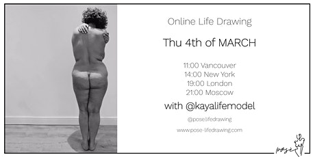 Life Drawing Event with @kayalifemodel tickets