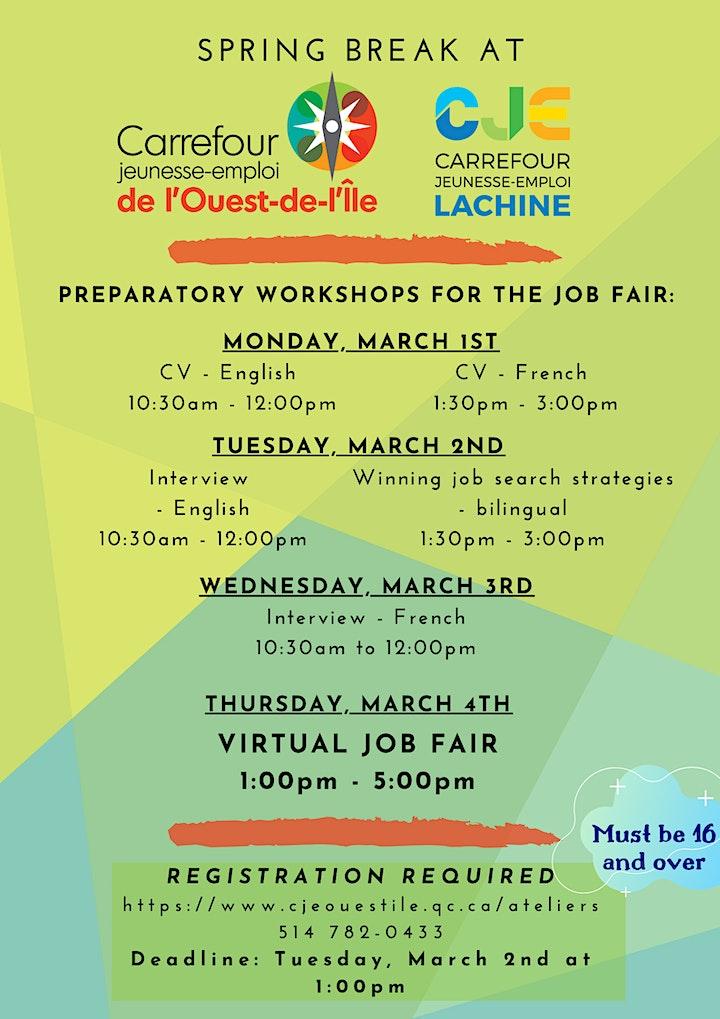 Événement d'embauche en ligne | Online Hiring Event image
