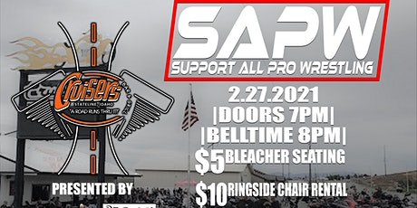 SAPW Live at Cruisers Bar and Grill 21+ tickets
