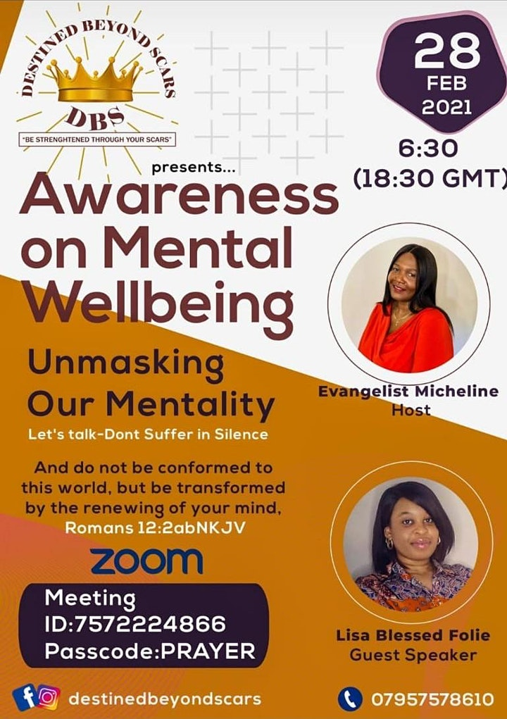 AWARENESS  ON MENTAL WELLBEING - UNMASKING OUR MENTALITY image