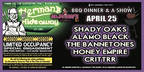 SHADY OAKS | ALAMO BLACK | THE BENNETONES | THE HONEY EMPIRE | CRITTRR tickets