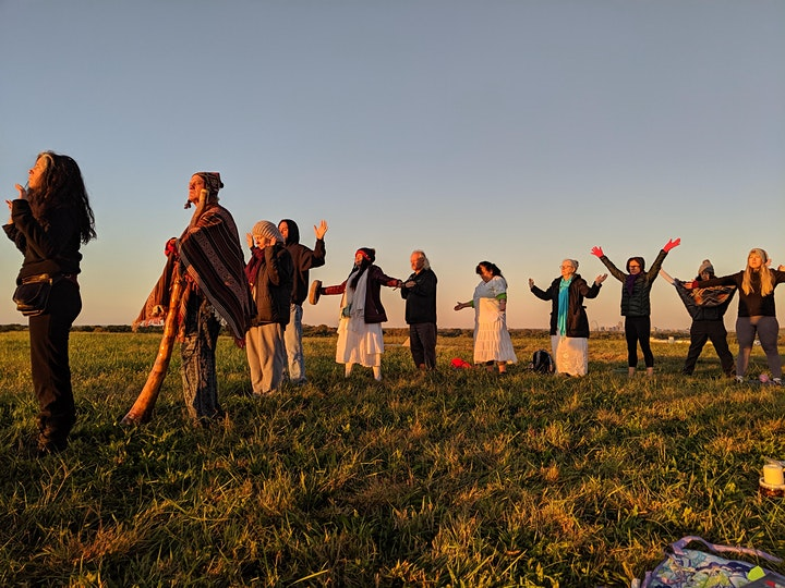 Spring EquinoxMayan Ceremony at Sunrise in Forest Park, St. Louis image