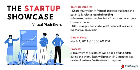 The Startup Showcase - Pitch Event tickets