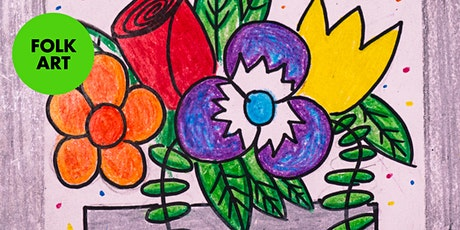 Folk Art Flowers - Art Kids Academy - Art Class for Kids - Ages 4+ tickets