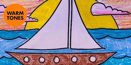 Sunset Sailboat - Art Kids Academy - Art Class for Kids - Ages 4+ tickets