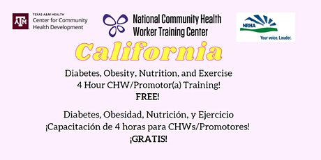 California CHW/Promotor(a) Training: DONE bilhetes