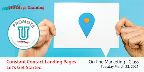HUTdogs Promote U:  Landing Pages Using Constant Contact tickets