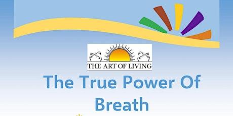 True Power of Breath- Breath and Meditation Workshop tickets