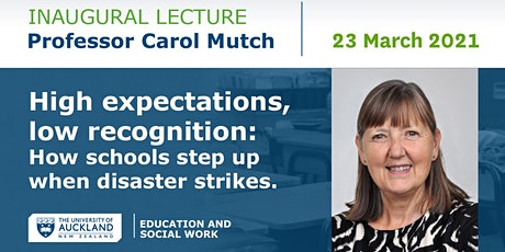 Inaugural Lecture for Professor Carol Mutch tickets