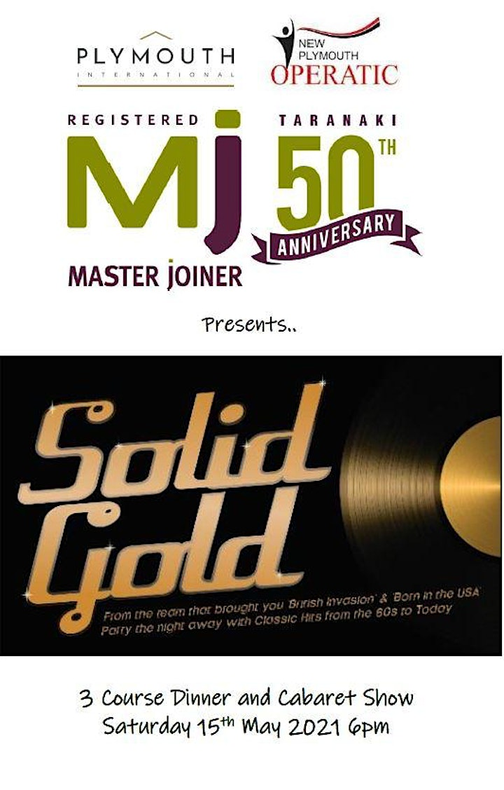 Taranaki Master Joiners 50th - Dinner & Cabaret Show image