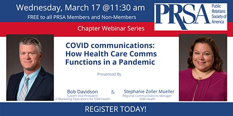 COVID Communications: How Health Care Comms Functions in a Pandemic tickets