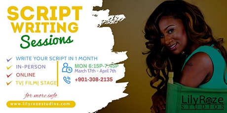 SCRIPTWRITING 101! Write your film, screenplay or stage play in 1 MONTH tickets