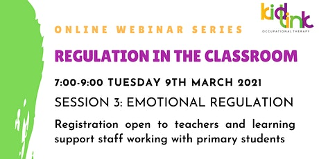 3.Emotional Regulation: Supporting students to manage tricky emotions tickets
