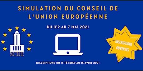 Simulation du Conseil de l'Union européenne (SCUE) billets