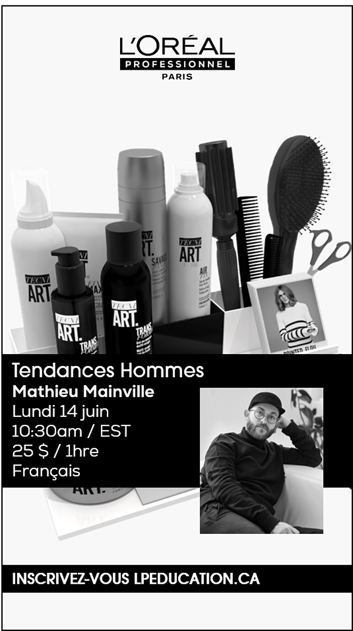 MEN'S TRENDS CUTTING with Mathieu Mainville  / French image
