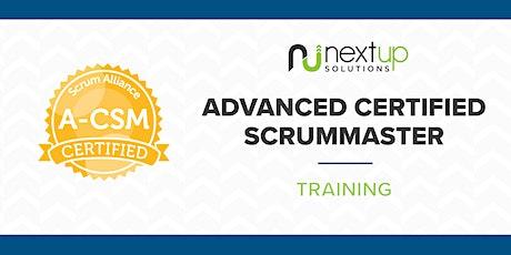 Advanced Certified ScrumMaster (A-CSM) Training (Virtual) tickets