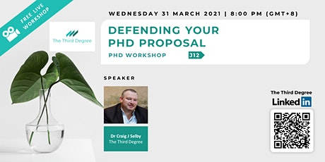 Defending Your PhD Proposal tickets