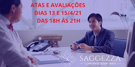ATAS E AVALIAÇÕES tickets