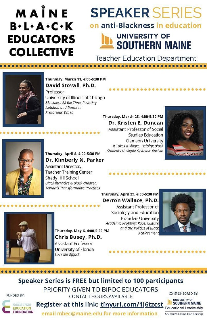 Maine Black Educators Collective Speaker Series image