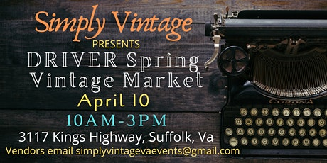 Driver Spring Vintage Market tickets