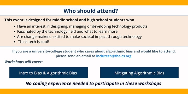 IncluTech at The Coding School Presents: Algorithmic Bias Workshop Day image
