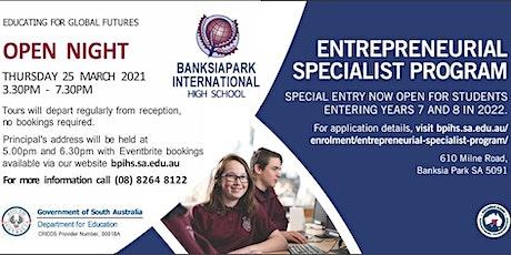 Banksia Park International High School Open Night Principal's Address tickets