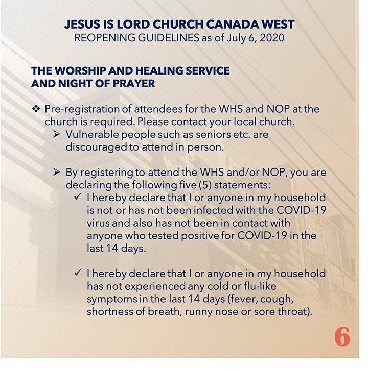 8:00 AM  Worship and Healing Service Registration Form image