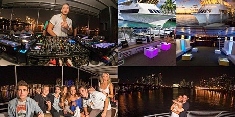 Miami's #1 Boat Party! 3 hours Open Bar unlimited mixed drinks live DJ tickets