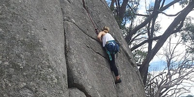 Rock-climbing at Leanganook (Mt Alexander), Saturday 13th March