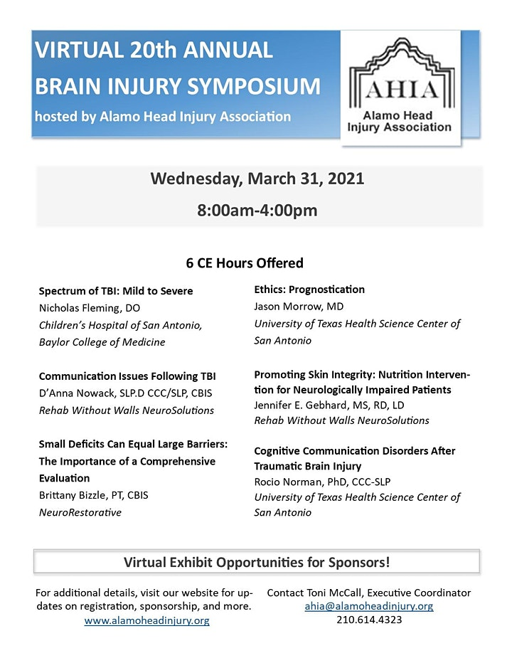 20th AHIA Annual Brain Injury Symposium image