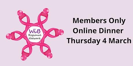 Women in Business Members Only Online dinner - 4/3/2021 tickets