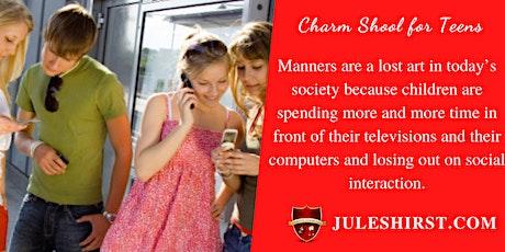 Modern Day Charm School for Teens |  Social Skills-Leadership-Confidence tickets