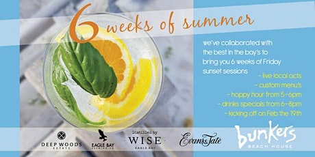 6 Weeks of Summer 'G&T by the Sea' tickets