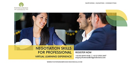 Negotiation Skills For Professionals (Online Training) tickets