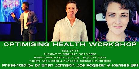 Optimising Health Workshop tickets