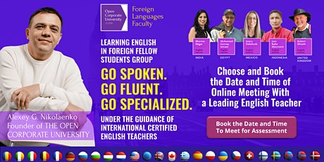 Apply for a free online 20 minutes testing with our leading English teacher tickets