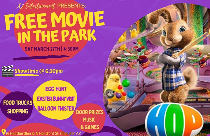 A Chandler Hoppy FREE Movie in the Park, Food Truck PopUP & More: Sat 3/27 image