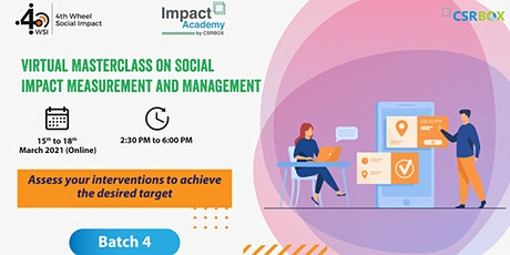 Social Impact Measurement and Management tickets