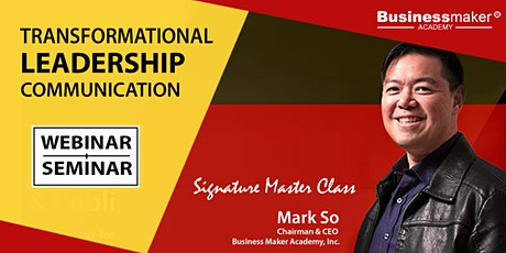 Live Webinar: Transformational Leadership Communication biglietti
