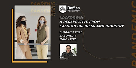 """""""Lockdown: A Perspective from Fashion Business and Industry"""" Webinar tickets"""