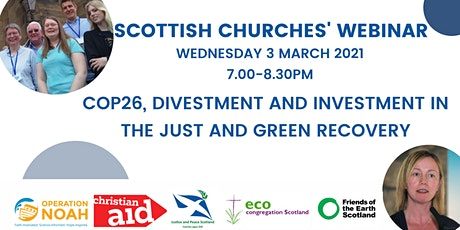 Scottish Churches: COP26, Divestment & Investment in Just & Green Recovery tickets