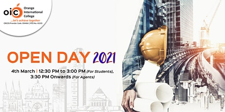 OIC'S Open Day 2021 tickets