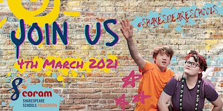 Coram Shakespeare Schools Foundation 2021 Programme Launch biglietti